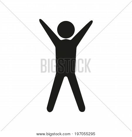 Icon of exercising man. Gymnastics, competition, sportsman. Sport concept. Can be used for topics like healthcare, training, morning activity