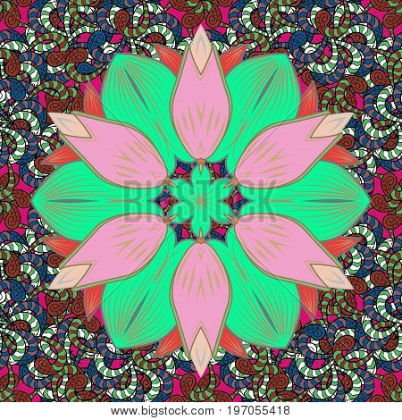 Vector watercolour floral pattern delicate flowers flowers greeting card template. Vector Beautiful fabric pattern.