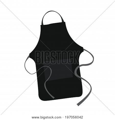 Isolated black apron on a white background, Vector illustration