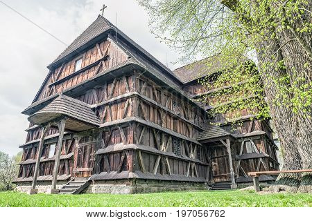 Articular wooden church in village Hronsek Slovakia
