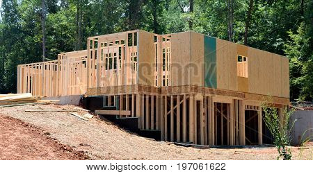 Home being constructed at rural Georgia, USA