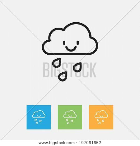 Vector Illustration Of Air Symbol On Drizzle Outline
