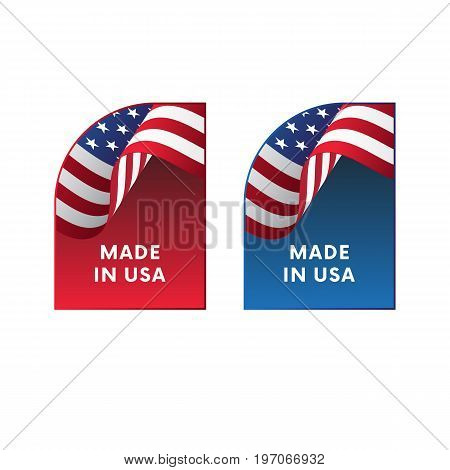 Stickers Made in USA. Label. Vector illustration.