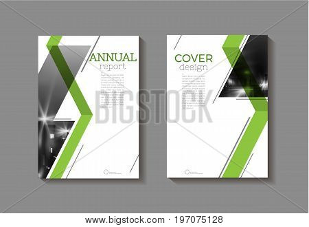 green abstract modern cover book Brochure template design annual report magazine and flyer layout Vector a4