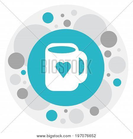 Vector Illustration Of Heart Symbol On Mug Icon