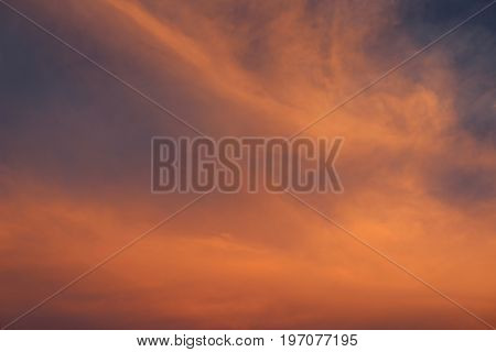 A beautiful sunset sky in the Oklahoma plains
