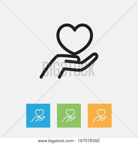 Vector Illustration Of Folks Symbol On Keep Outline
