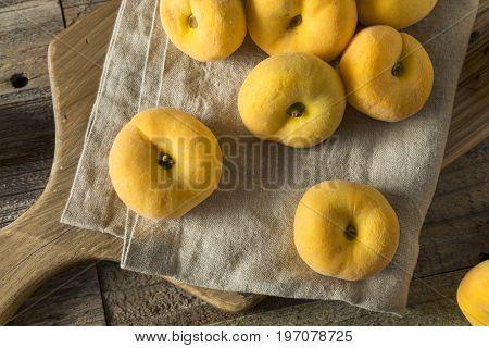 Raw Organic Yellow Donut Saturn Peaches