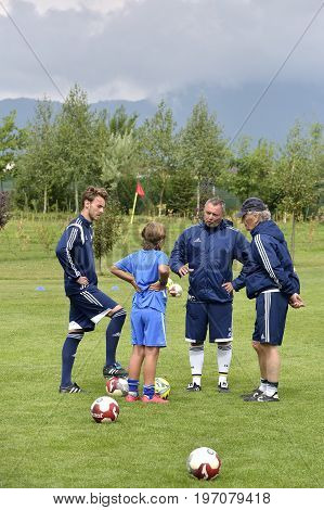 Ghimbav, Brasov, Romania - Agust 3: Soccer Football Training Camp For Kids, Children At Forex Ghimba