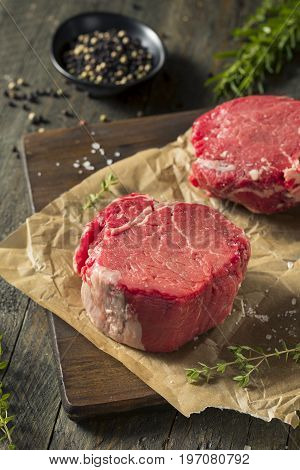Raw Organic Grass Fed Filet Mignon Steak