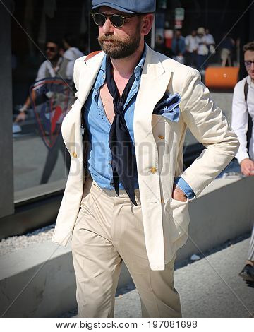 FLORENCE- 14 June 2017 Antonello Cocca on the street during the Pitti