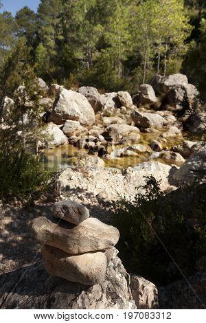 Ulldemo river. Los Ports Mountains park natural