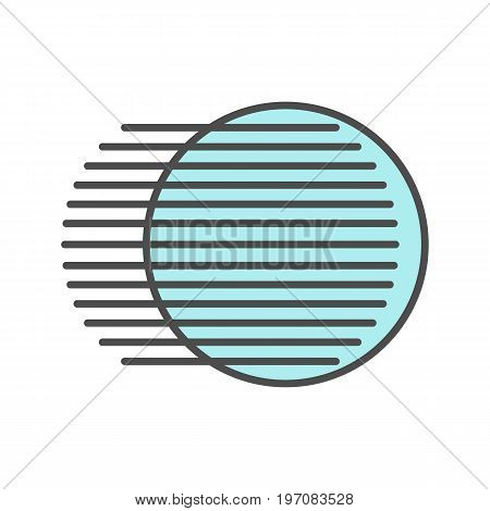 Movement symbol color icon. Dynamic motion concept. Isolated vector illustration