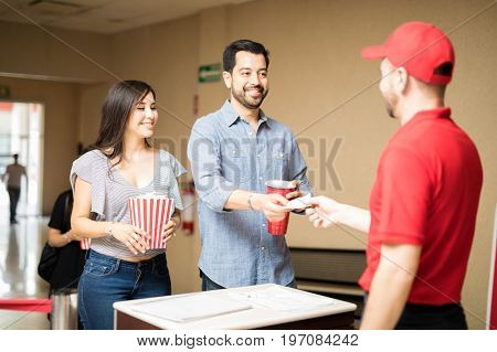 Couple On A Date At The Movie Theater