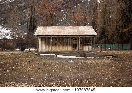 House in Andes Mountains, Cajon of Maipo. Santiago