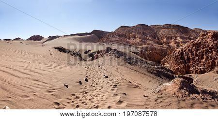Moon valley. San Pedro of Atacama desert