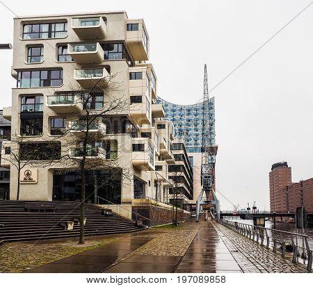 Hafencity In Hamburg Hdr