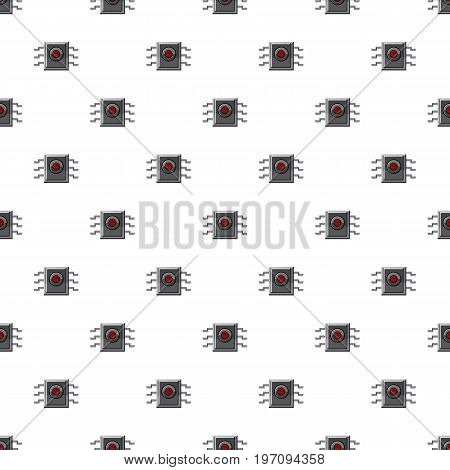Microchip pattern seamless repeat in cartoon style vector illustration