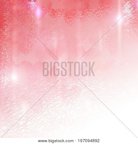 romantic abstract blurred background with hearts