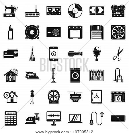 Appliance icons set. Simple style of 36 appliance vector icons for web isolated on white background