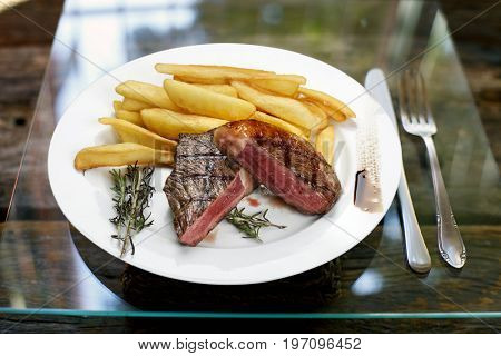 fries with Brazilian picanha