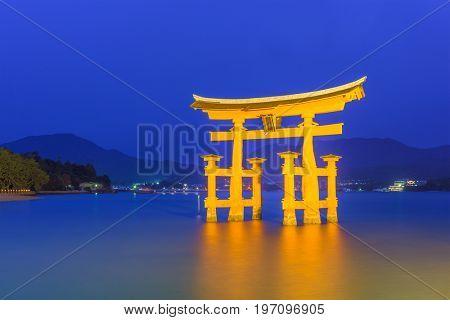 Miyajima, Horishima, Japan floating gate.