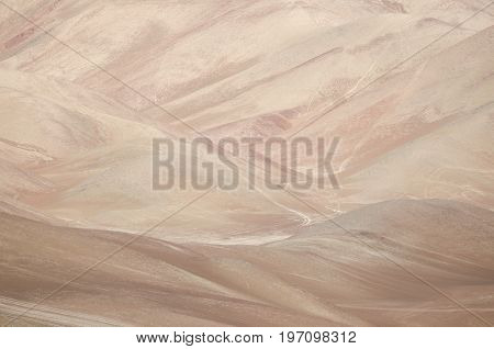 Beauty of nature - aerial view to the desert