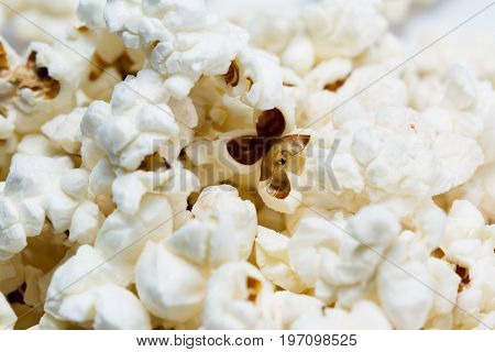 Fresh Popcorn Close Up