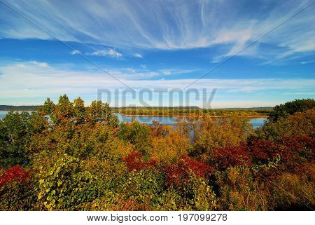 Lake Pippin during the fall located in Minnesota