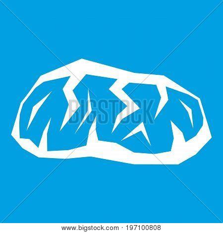 Gold mining icon white isolated on blue background vector illustration