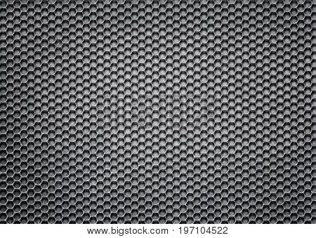 Metal Mesh, Perforated Iron Pattern For Background, 3D, Illustration