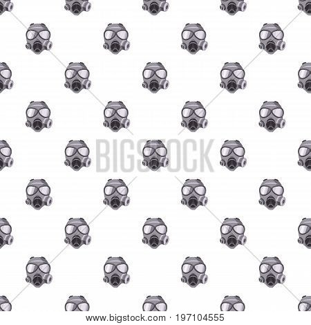 Gas mask pattern seamless repeat in cartoon style vector illustration