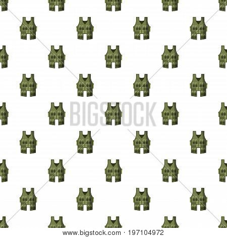 Vest pattern seamless repeat in cartoon style vector illustration