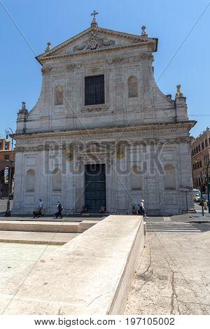 ROME, ITALY - JUNE 22, 2017: view of Chiesa di Santa Susanna alle Terme di Diocleziano in Rome, Italy