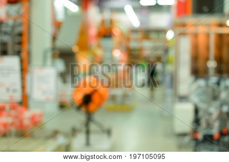 Abstract blur of the store interior for the background