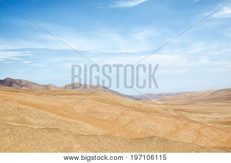 View to arid lands of desert - natural background