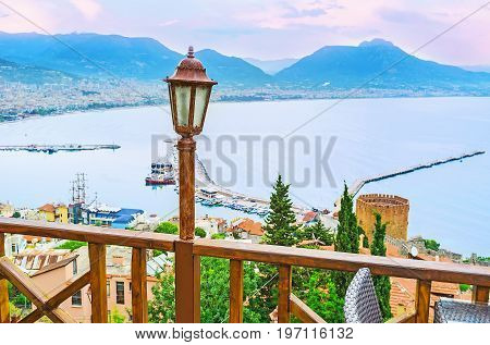 The Old Lantern And Alanya Seascape