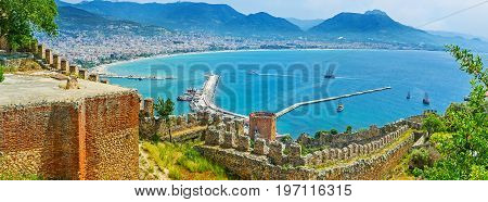 Panorama Of Medieval Alanya