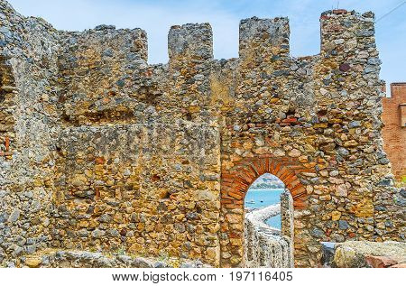 The View Through The Window In Alanya Fortress