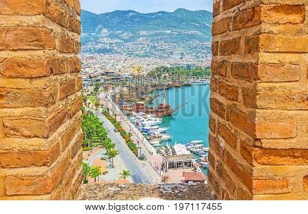 Alanya Between The Battlements Of Red Tower