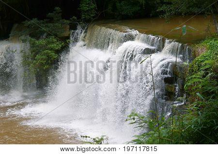 Sridith Waterfall In Khaoko At Petchabun,thailand
