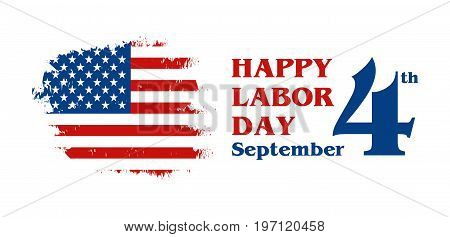 American Labor Day Greeting Card Vector Illustration