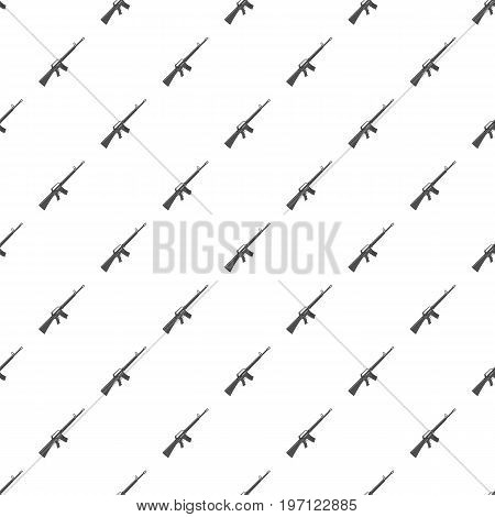 Military rifle pattern seamless repeat in cartoon style vector illustration