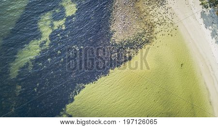 Dennes Point Beach From Above, Located On Bruny Island In Tasmania.