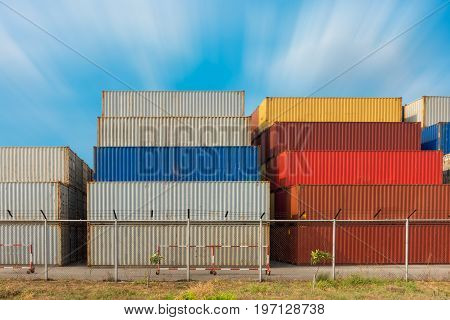 Handling container stack in shipping yard., Tools object