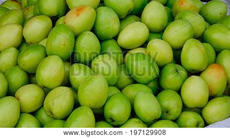 Chinese Apple, Indian Plum For Sale At Market