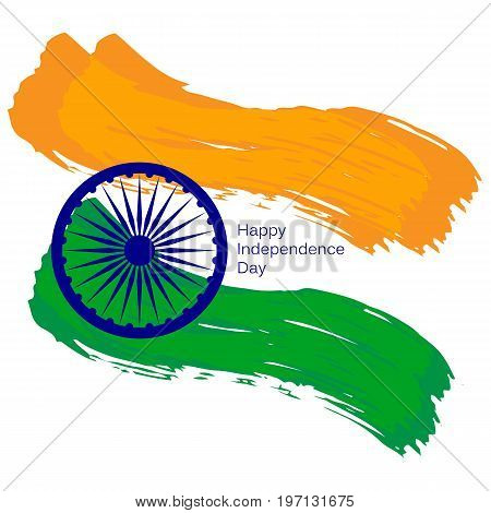 Indian Independence Day concept background . Vector Illustration