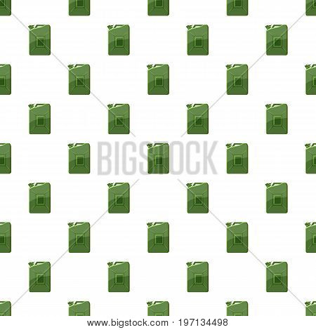 Green jerrycan pattern seamless repeat in cartoon style vector illustration