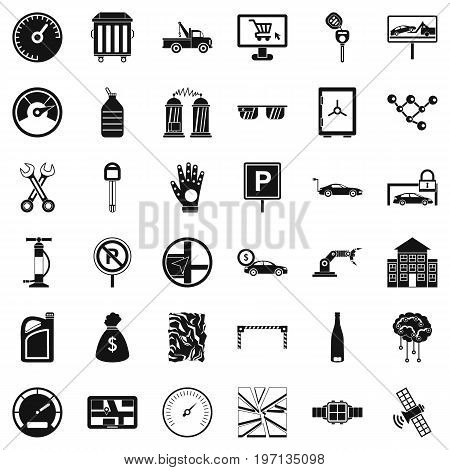 Repair car icons set. Simple style of 36 repair car vector icons for web isolated on white background