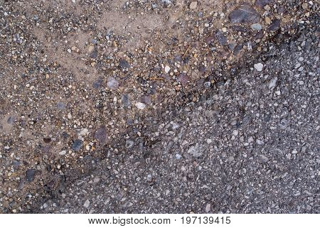 asphalt road surface paving gravel roads. background and texture for graphic design.
